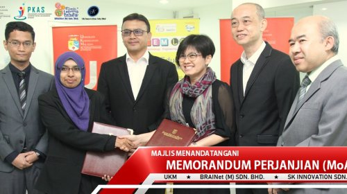MoA Signing Ceremony UKM – BRAINet – SK Innovation